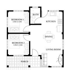 design house blueprint free single story small house plan floor area 90 square meters below