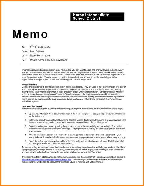 Memo Writing Guidelines 10 How To Write A Business Memo Newborneatingchart