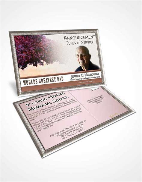 memorial card template sunset announcement card template greatest summer sunset