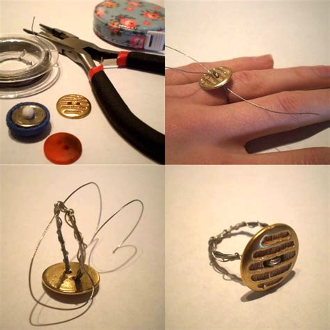 diy jewelry crafts easy jewelry crafts for diy button rings jewelry designs kfoods