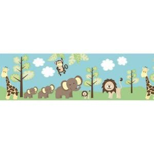 brewster world jungle friends wallpaper border