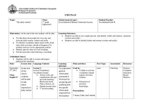 calla lesson plan template unit plan