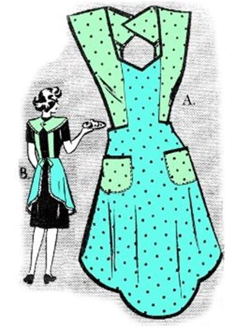 pattern for grandma s apron 1940 s vintage apron pattern craft ideas pinterest