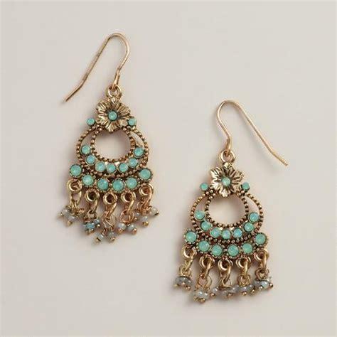 small chandelier earrings small pacific opal chandelier earrings world market