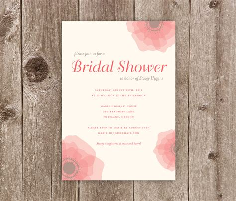 templates for bridal shower invitations printable photo free printable mason jar image