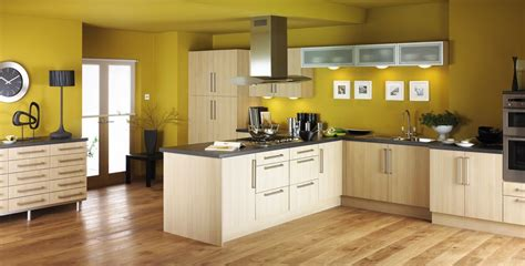 modern kitchen design with various colors in contemporary