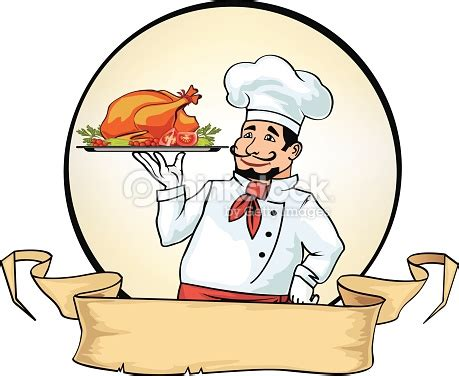 chef cuisiner vector chef cook with a dish vector thinkstock