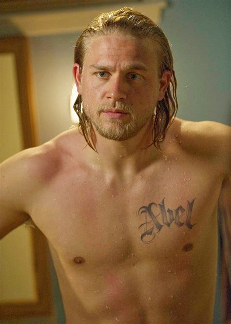 charlie hunnam tattoos sons of anarchy hunnam shirtless with a