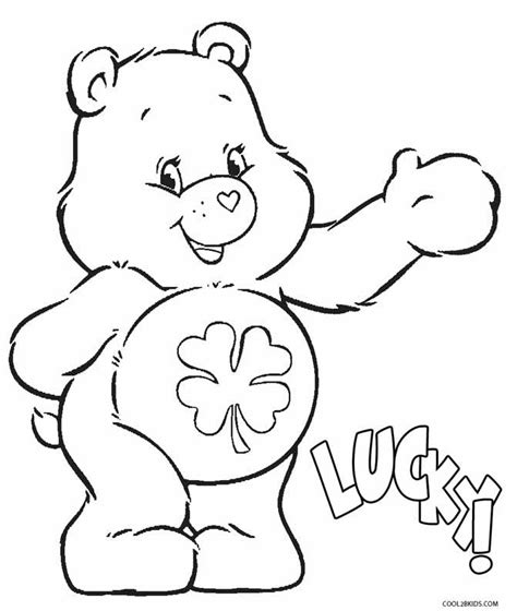 coloring pages for luck printable care bears coloring pages for cool2bkids