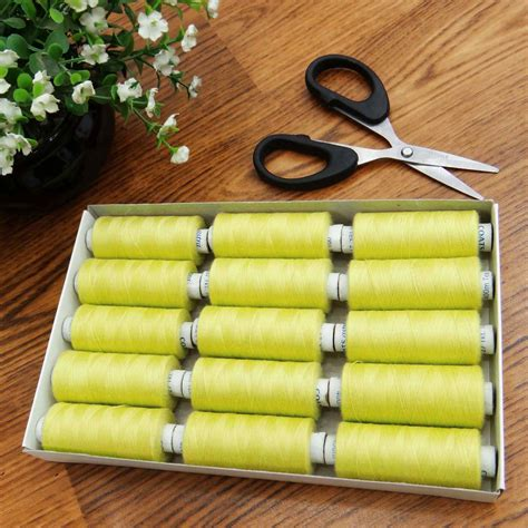 Quilt Supplies Wholesale by Yellow 15 Pcs New Spun Spool Quilting Wholesale Polyester