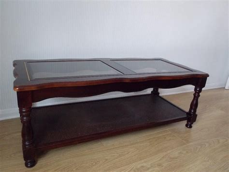 Mahogany And Glass Coffee Table with And Vintage Polished Square Mahogany Coffee Table With Glass Top And Shelves On Hardwood