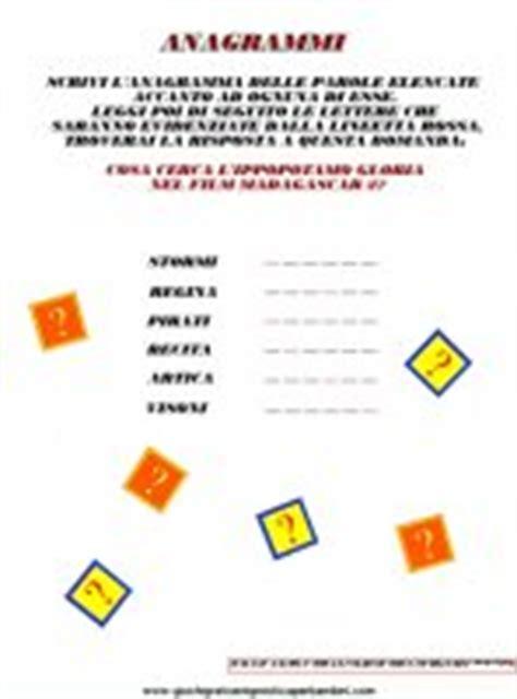 anagrammi con lettere anagrammi anagrammi per bambini ed enigmistica da