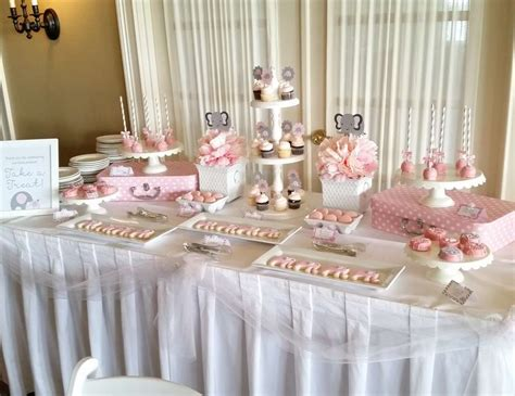 Pink And Gray Baby Shower Ideas by Pink And Gray Elephant Baby Shower Quot Pink And Gray
