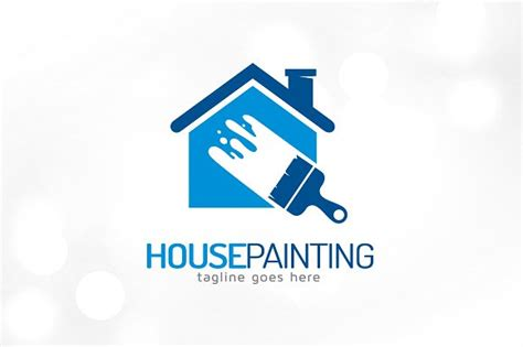 House Painting Logo Template Logo Templates Creative Market Painters Logo Templates