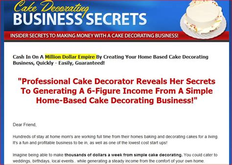 Starting A Cake Decorating Business From Home Best Mixer Reviews