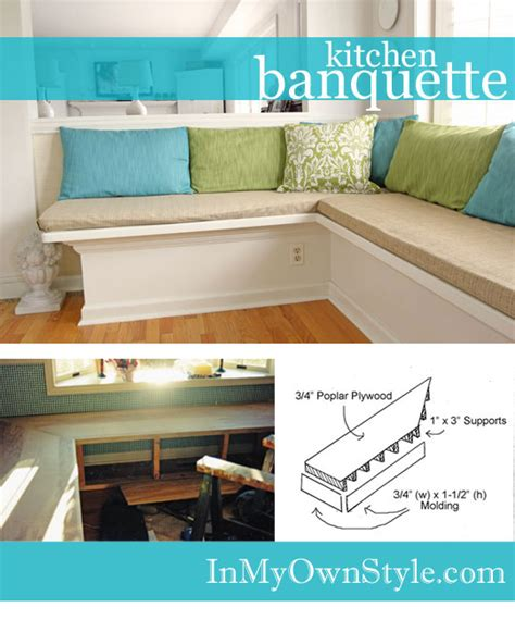 how to make a banquette for your kitchen in my own style