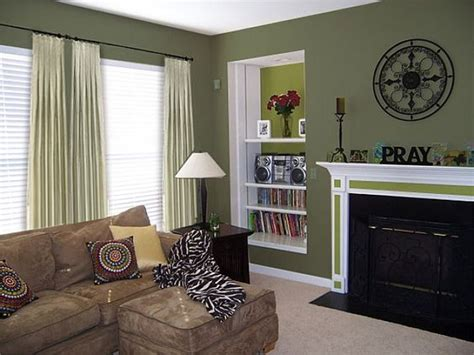 Painting A Room Two Colors Opposite Walls by Living Room With Green Paint Colors Maybe A Wall In