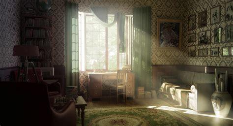 Interior Design Retro Vintage Warm Sunlight Room Wallpaper Apartment Bedroom Vintage Style Decorating