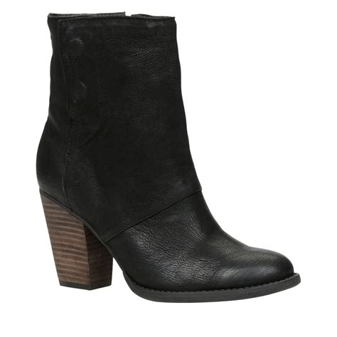 aldo izabel block heel toe boots in black lyst