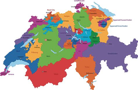 mit map schweiz mit kantonen karte