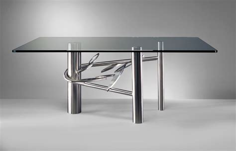 Stainless Steel Glass Dining Table 20 Sleek Stainless Steel Dining Tables