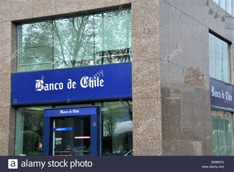 banco de chile banco de chile santiago chile stock photo royalty free