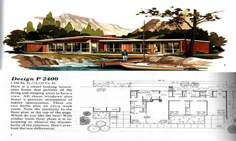 vintage 1960s midcentury family vacation house plans