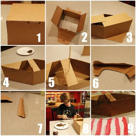 How To Make A 3d Ship Out Of Paper - 1000 ideas about cardboard box boats on