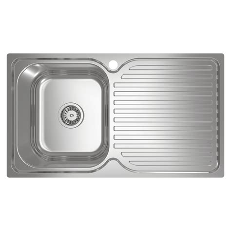 Single Sink Drainer by Abey Left Stainless Steel Single Bowl With Drainer Sink