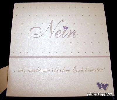 Hochzeitseinladung Standesamt by Hochzeitseinladung Quot Nein Quot Flieder Wei 223 Einladungen F 252 R