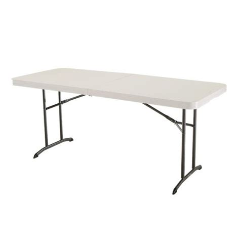 Lifetime Fold In Half Table by Lifetime 6 Ft Commercial Fold In Half Table With Handle