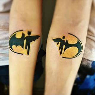 batman tattoo couple 23 geeky couple tattoos that are beyond perfect couple