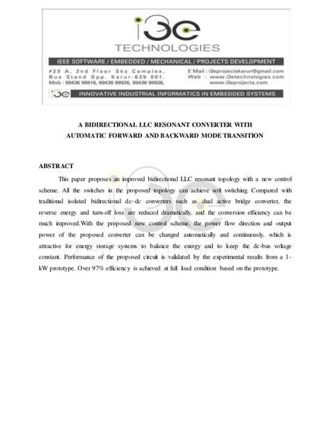 A Bidirectional LLC Resonant Converter With Automatic
