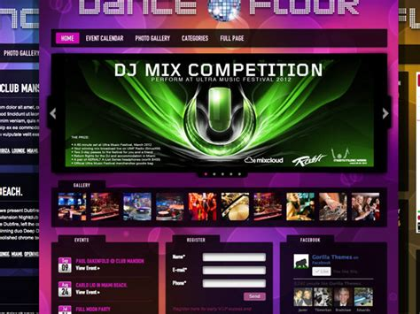 dj themes songs dance floor dj wordpress theme thefloors co