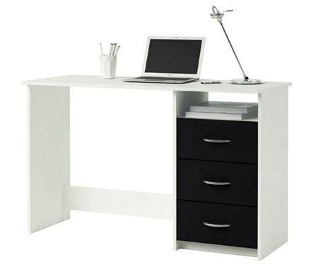 Black And White Office Furniture Black And White Black White Desk