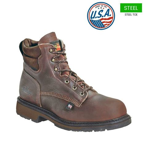 american made boots thorogood 6 in american heritage steel toe boots usa made