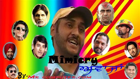 comedy actor punjabi mimicry of bollywood actors punjabi funny video quot zulmy