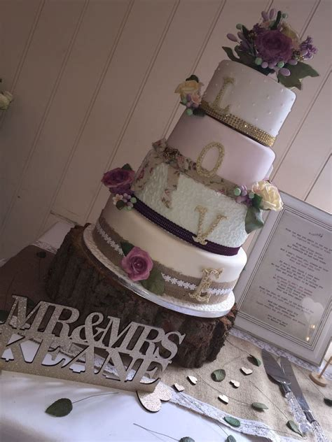 vintage shabby chic wedding cake cakecentral com