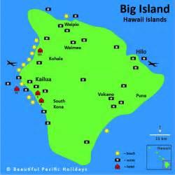 map of islands map of big island hawaii in the hawaiian islands