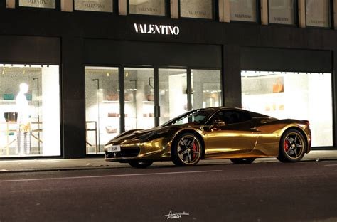 chrome gold ferrari photo of the day gold chrome ferrari 458 spider in london
