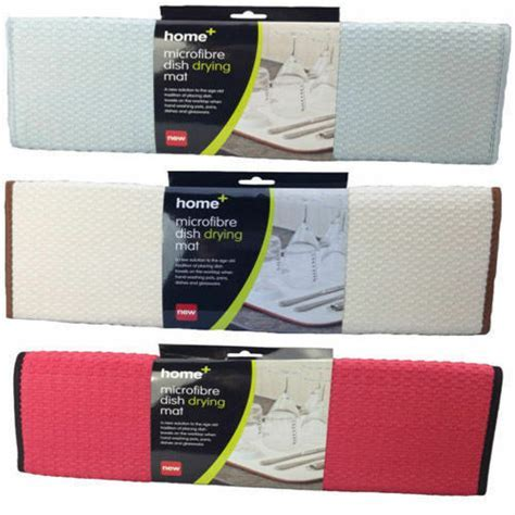 2 x Microfibre Dish Drying Kitchen Sink Washing Up Drainer