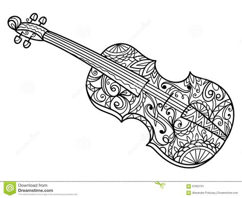 coloring book vector violin coloring book for adults vector stock vector