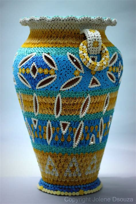 paper quilling vase tutorial quilled pot by jolene quilling vases bowls baskets