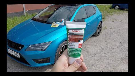 Auto Kratzer Polieren Test by Sonax Kratzerentferner Nano Pro Kunststoffblenden