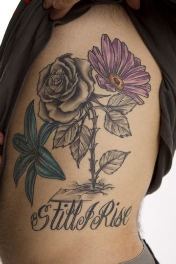 rose concrete tattoo still i rise and roses on