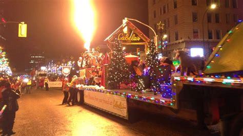 pueblo parade of lights 2017 in winnipeg lights harvest hers trees