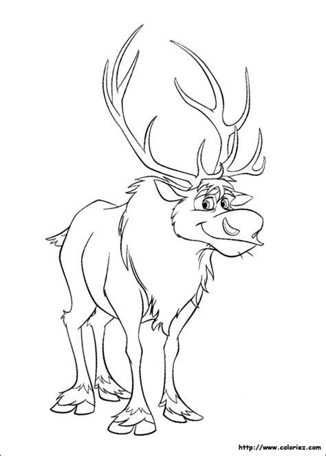 frozen reindeer coloring pages coloriage sven le renne