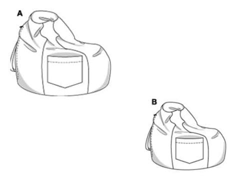 bean bag sewing pattern burda 8373 bean bag cushion seat cover