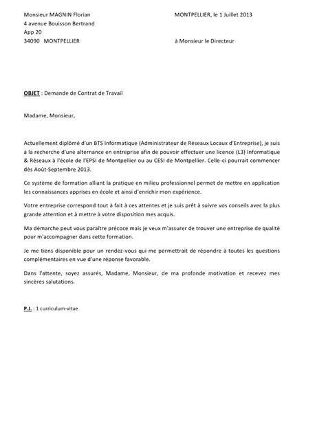 Lettre De Motivation Ecole Technique lettre motivation administrateur d ecole maternelle ou
