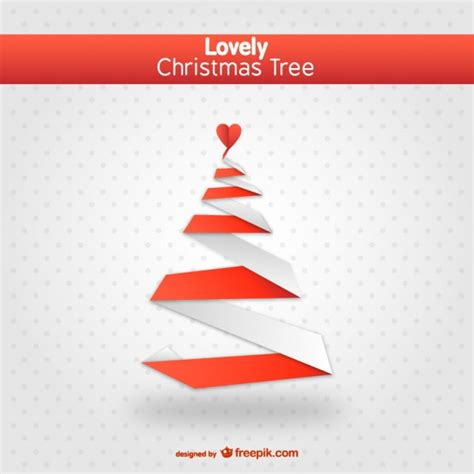 lovely christmas tree vector vector free download